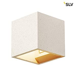 SLV Solid Cube Wall Light, 304 Stainless Steel, Grey Weißer Sandstein