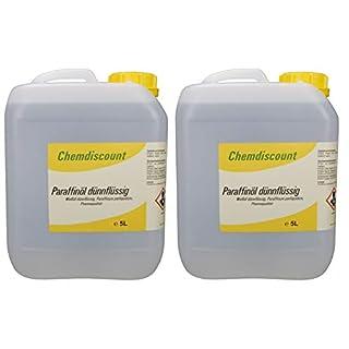 10Liter (2x5Liter) Paraffinöl dünnflüssig, entspricht Ph.Eur, medizinisch, versandkostenfrei! Paraffinum Perliquidum, Pharmaqualität, medizinisch