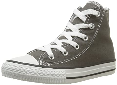 Converse Chuck Taylor All Star Hi , Unisex Kids' Trainers, Charcoal, 1 UK (33 EU)