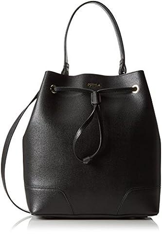 Furla Stacy M Drawstring, Sacs portés main femme - Noir - Schwarz (Onyx O60), 27x31x10 cm (B x H x T)