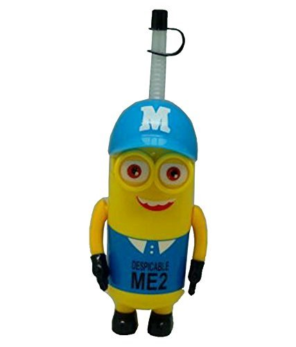 Skky bell Minions Cap Cartoon Character Featured 340 ml Sipper Water Bottle Multicolour for Kids