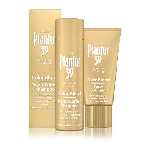 Plantur 39 Color Blond Phyto-Coffein-Shampoo, 250 ml + Farb-Spülung, 150 ml - Für warmes Blond bei...