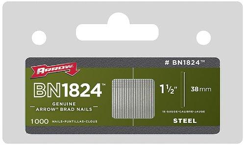 Arrow BN1824 Boîte de 1000 Pointes à tête pour agrafeuse 38 mm