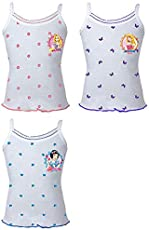 BODYCARE Girls Printed Vest (Pack of 3)