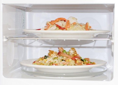 Daewoo KOR6L6BD Duo-Plate Digital Microwave, 20 L, 800 W – White
