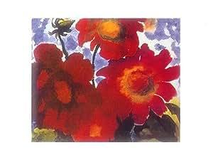 Rouge dahlia Par Emil Nolde AFFICHE - 60 cm x 80 cm
