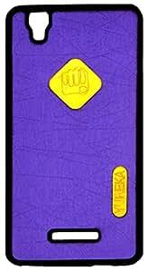 Purple + Black Premium Soft Back Cover For Micromax Yu Yureka