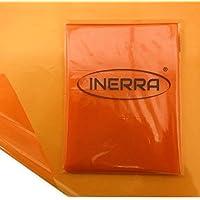 INERRA 2 Metros x 80cm Celofán Estampado Película Envoltura Hojas - Naranja Atardecer, 2 Metres x 80cm Sheet