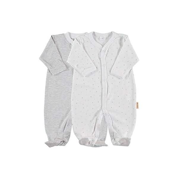 Petit Oh! - Pack de 2 Pijamas de Manga Larga para bebé 100% algodón Pima Talla 3-6 Meses 3