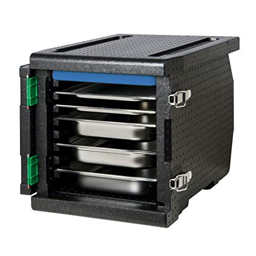 Thermo Future Box Cateringbox, Frontlader, EPP (expandiertes Polypropylen), schwarz, innen 530 x 335 x 370 mm