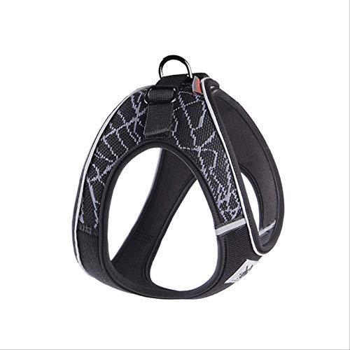 MHSM Leash Pet Dog Soft Chest Vest Harness Pet Sport Tralage Seil Pet Dog Outdoor Brust Weste Geschirr Reflektierende Hunde Geschirr Stabilität S Style 2 Grau -