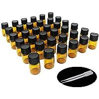 One Trillion,2ML Botellas de Vidrio de Muestra Vacía de Color ámbar con Reductores de