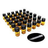 One Trillion,36 Pcs - 2ml Amber Sample Glass Bottles/vials with Orifice Reducers