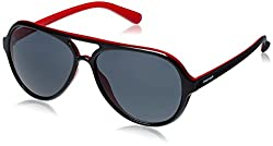 Fastrack Springers Aviator Sunglasses (Black and Red) (P296BK1)