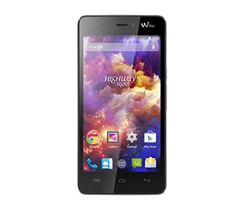 Wiko Highway Signs Dual-SIM Smartphone (4,7 Zoll (11,9 cm) Touch-Display, 8 GB Speicher, Android 4.4) schwarzgrau