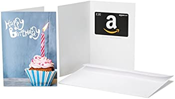 Amazon.co.uk Gift Card - In a Greeting Card - £20 (Birthday Blue Cupcake)