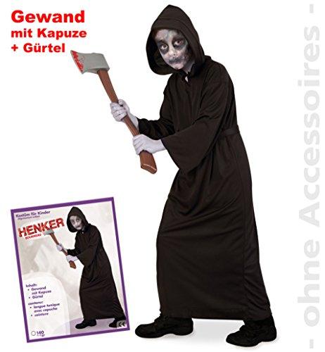 Edward Kostüm Bella - narrenwelt Halloween Henker Kutte 3tlg Kinder-Kostüm PB 1565 mit Kapuze und Gürtel