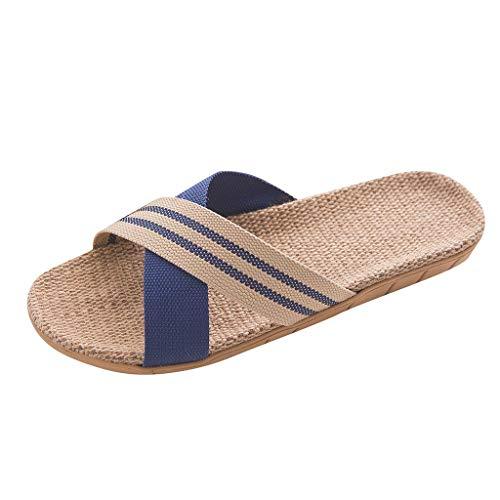 Beach Flip Flops, Ciabatte Infradito per Spiaggia e Piscina Infradito Uomo Pantofola Sandalo Tipo Perfetto per L'Estate (44-45 EU,Blu)