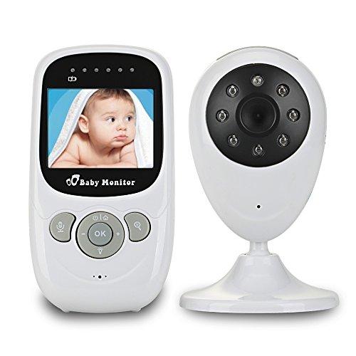 MIUFLY 2,4 GHz Baby Monitor Baby Phone Babyphone 2.4 Zoll LCD Farbdisplay Nachsicht 2-Wege-Gegensprechfunktion mit 2X Digitalzoom.