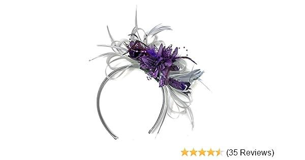 Purple//Black Fascinator Hat for weddings//ascot//proms P2