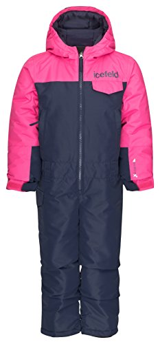 icefeld Schneeoverall/Skianzug pink in Größe 98/104