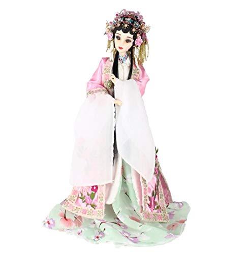shunlidas Wohnaccessoires Gartenarbeit Handwerk Desktop 35 cm Handgemachte Chinesische Alte Kostüm Puppen Peking Oper Dame Du PuppenMädchen Puppe Spielzeug