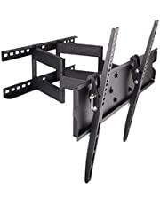 "Rife Articulating Large Swivel Tilt Wall Mount Bracket with Dual Arm pulls out up to 43 cm for most 60"" 62"" 65"" 70"" 75"" 78"" 80"", Models LED LCD Plasma TV"