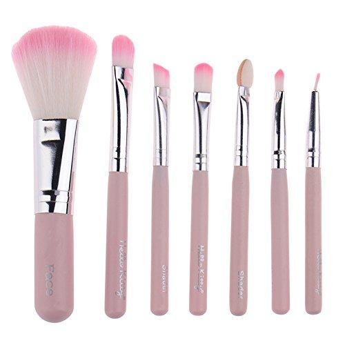 LianLe®7PCS Blush Fondation cosmétiques maquillage Metal brosse Techniques Pro outil Pinceau