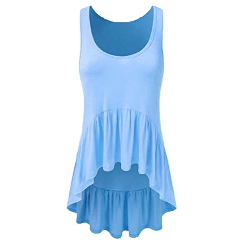 gen ärmellose Weste Top Musical Notes Drucken Strappy Tank Tops Bluse T Shirt(Q-f-Blau,M) (4 Frauen Gruppe Kostüm)