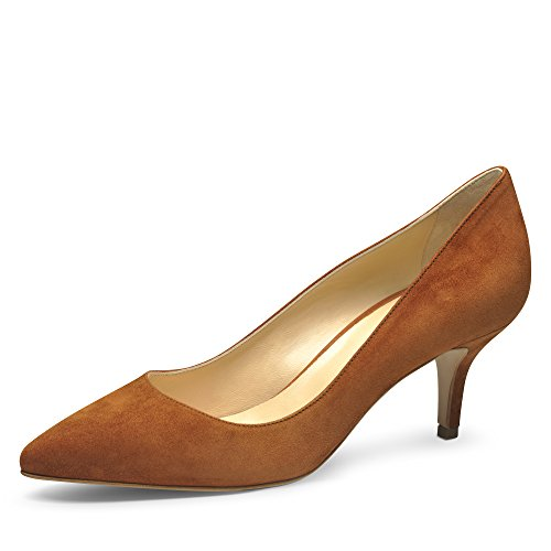 Evita Shoes Giulia Damen Pumps Rauleder Cognac 35