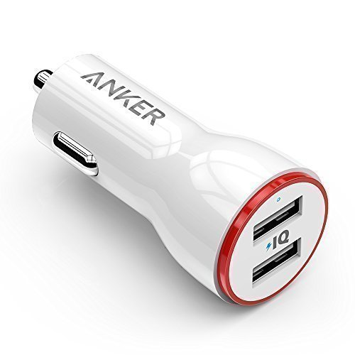 Anker PowerDrive 2 Auto Ladegerät 24W / 4.8A 2-Port USB Kfz Ladegerät Power IQ für iPhone 7 / 7 Plus / 6s / 6s Plus / iPad Pro / Andriod / Galaxy S7 / S7 Edge / S6 Edge / Nexus 5X / 6P , Tablets und mehr (Weiß)