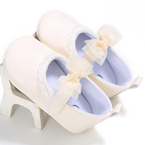 Clode® Bébés filles Princesse anti-dérapant du nouveau-né Chaussures bébé Souliers (6 ~ 12 mois, Rose) Jaune