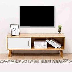 WJHH Bambus-Material TV-Schrank Einfacher Standbodenschrank mit Griff Design für Home Coffee Shop