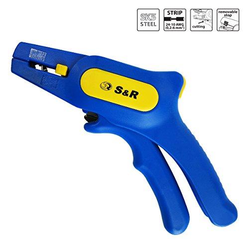 Preisvergleich Produktbild S&R Automatische Abisolierzange 0,2-6mm² RAPID Abmanteler mit Schneide bis 2mm² AWG 10-24