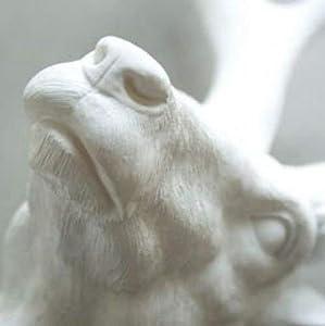 Deko Kopf Deer White, Weiß, kleines Hirschgeweih Jagd Wanddekoration, Tierkopf, (H/B/T) 45x40x20cm