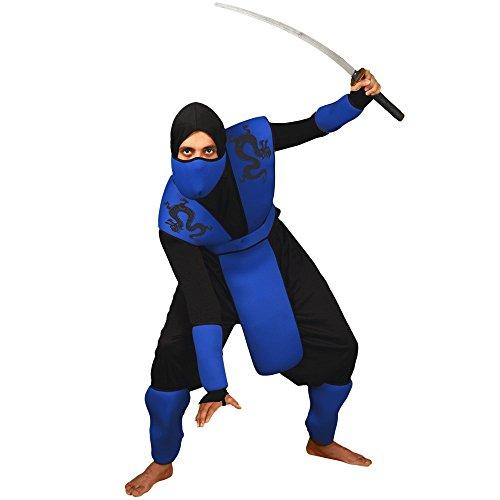 Morphsuits MCCUONIN1 - Snake Eyes Ninja Unisex Kostüm, Einheitsgröße, blau