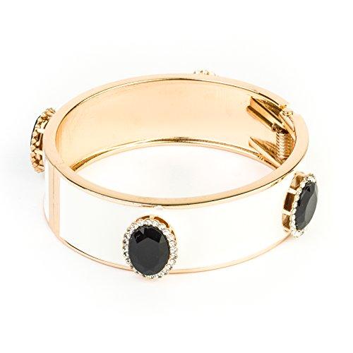 womens-bracelet-stainless-steel-leather-white-spring-summer-fashion-charm-bracelets-cream-enamel-cuf