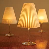 Gorgeous Helen///Gorgeous Helen · 3 Enchanting Lampshades for wine glasses with tea lights