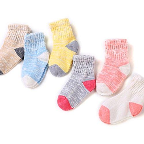 VWU Baby Socken Mädchen Socke Erstlingssöckchen AntiRutsch Baumwolle 6er Pack 12-24 monate