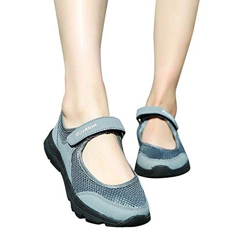 OSYARD Damen Frauen Sportschuhe Sneaker,Mode Frauen Freizeitschuhe Leichtgewichtler Bequeme Schuhe Sommer Sandalen Anti Slip Atmungsaktiv Fitness Laufen Sportschuhe Flache Turnschuhe