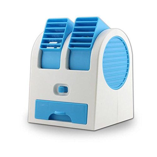 Mini USB Beweglicher Fan Dual Air Outlet Desktop Fan Bladeless Klimaanlage K¨¹hlventilator -