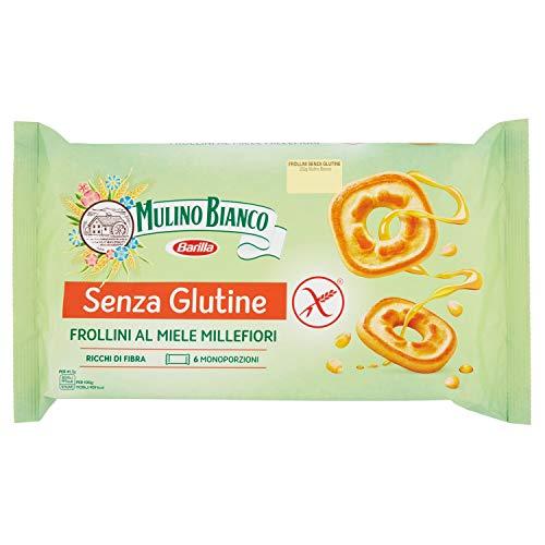 Mulino bianco biscotti frollini senza glutine al miele millefiori, gluten free - 250 gr