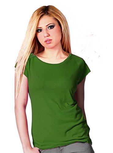 Raglan T-Shirt aus Bambusfaser und Bio Baumwolle Lindgrün