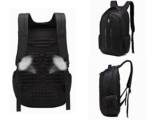 Imagen de slotra business bolsa  para portátil resistente al agua portátil de viaje de  para portátil, 15.6 pulgadas, negro alternativa