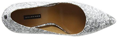 Belmondo 703340, Chaussures à talons - Avant du pieds couvert femme Blanc - Weiß (bianco combi)
