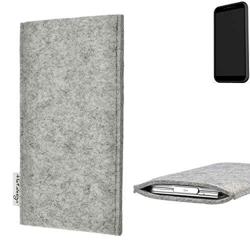 flat.design Handy Hülle Porto für Shift Shift6mq maßgefertigte Handytasche Filz Tasche Schutz Case fair grau