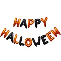 pu ran- Halloween Bunting Banner Happy Halloween Garland Flag Bat Spooky Balloons Party Halloween Decoration Props
