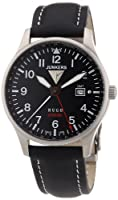 Reloj Junkers 66442 de cuarzo para hombre con correa de piel, color negro de Junkers