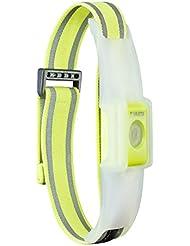 Varta 2x 5mm LED Outdoor Sports Reflective Band inkl. 2x CR2032 Knopfzellen Taschenlampe Lampe elastisches Reflektorband mit Klettverschluss  - Sicherheit beim Sport, Joggen, Reiten, Laufen, Radfahren