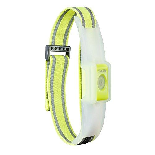 Varta 2 x 5 mm LED Outdoor Sports Reflective Band (inkl. 2x CR2032 Knopfzellen Taschenlampe Lampe elastisches Reflektorband mit Klettverschluss - Sicherheit beim Sport, Joggen, Reiten, Laufen) -